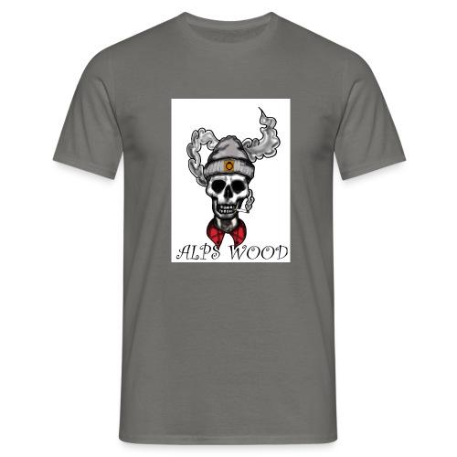 Alps Wood Lumberjack mit Logo - Männer T-Shirt