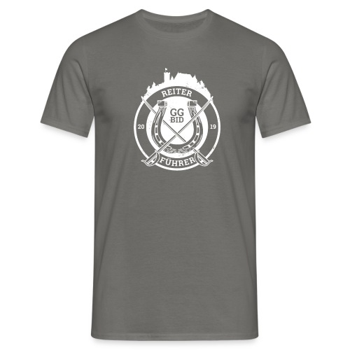 R&F Logo weiß - Männer T-Shirt