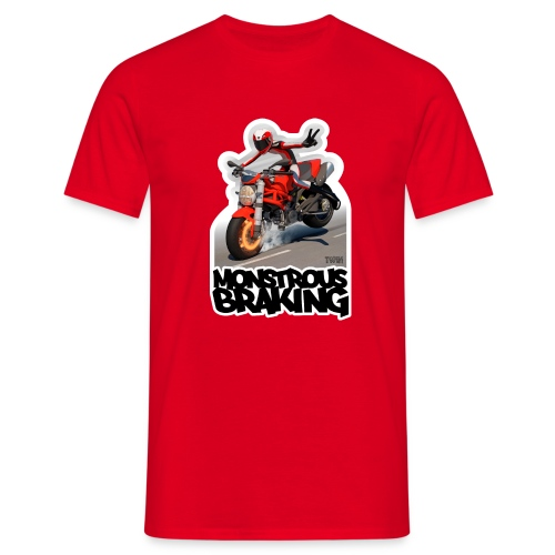 Ducati Monster, a motorcycle stoppie. - Camiseta hombre
