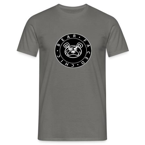 Bear Faced Chic Black and White Logo Varient - Men's T-Shirt