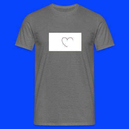 t-shirt bianca con cuore - Maglietta da uomo
