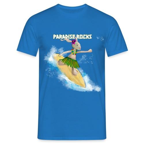 Bunny Riding A Surfboard - Men's T-Shirt