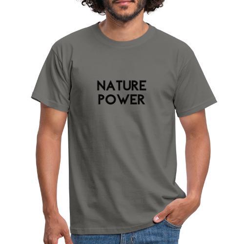 NATURE POWER - BLACK - T-shirt Homme