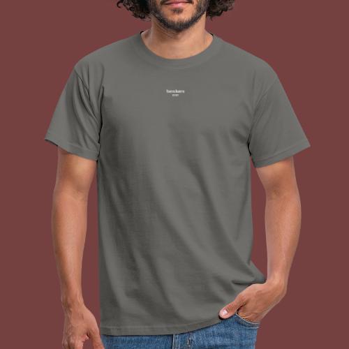 bænkørs hvit tekst - T-skjorte for menn