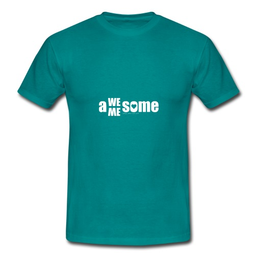awesome we+me shirt – weiß - Männer T-Shirt