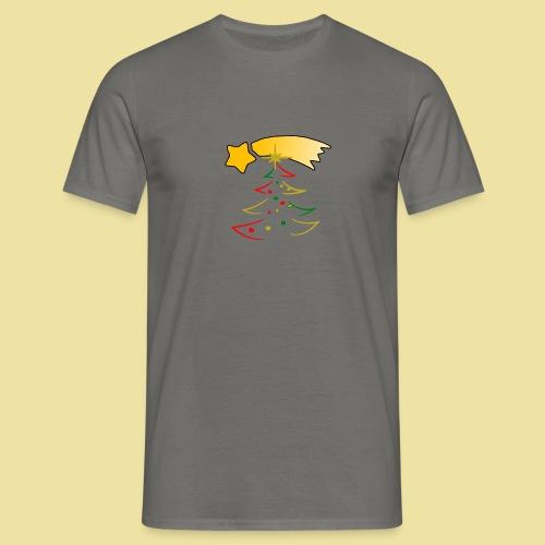Weihnachtsbaum mit einer Sternschnuppe - Männer T-Shirt