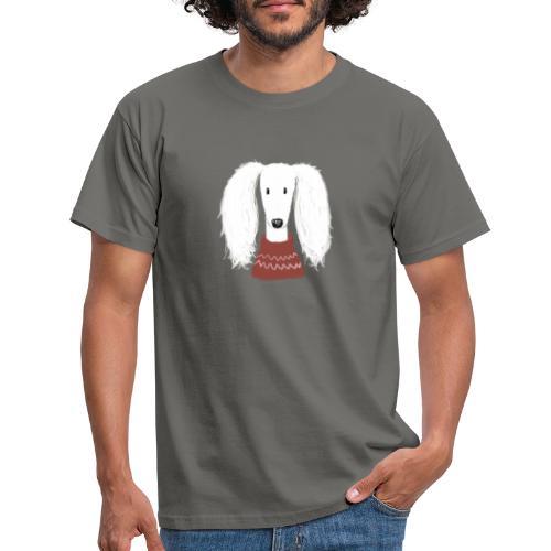 Saluki im Pulli - Männer T-Shirt