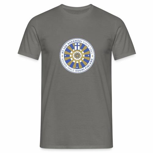 RT106 tummalletaustalle - Miesten t-paita
