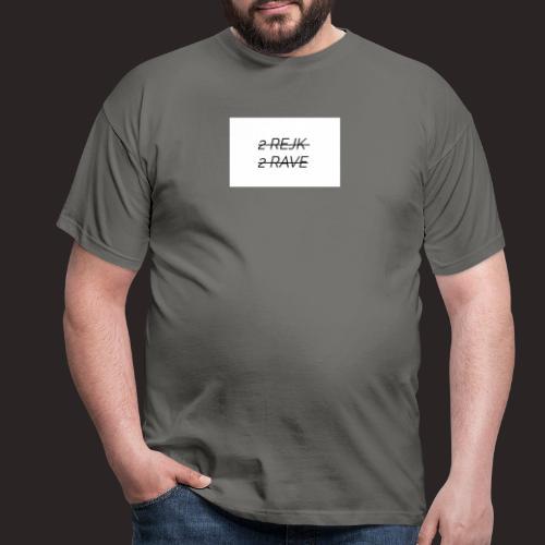 2 Rejk 2 Rave valkoinen - Miesten t-paita