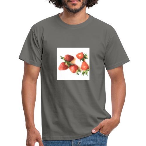 Rode Erdbeern - Männer T-Shirt