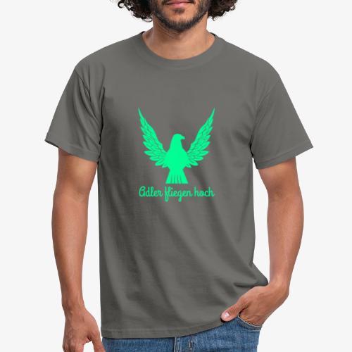 Adler fliegen hoch - Männer T-Shirt