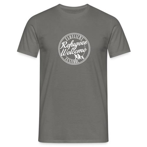logo_refugees_weiß - Männer T-Shirt