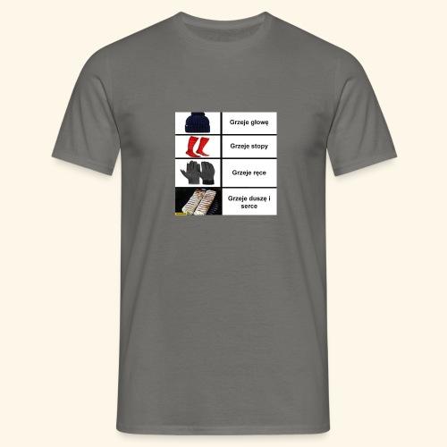 kebab grzeje dusze i serce czapka grzeje glowe ska - Koszulka męska