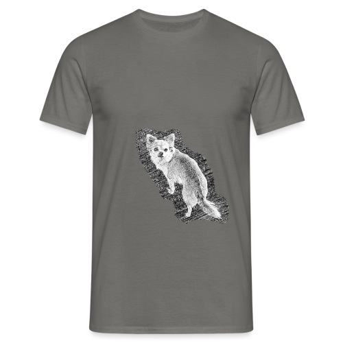 Chihuahua gezeichnet - Männer T-Shirt