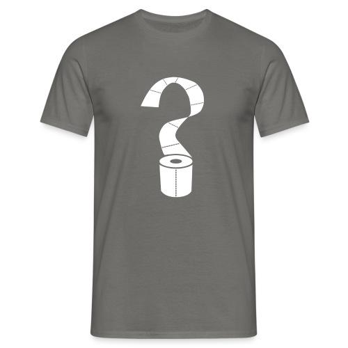 Corona Paper Corona Virus Ovid 19 Toiletpaper why - Männer T-Shirt
