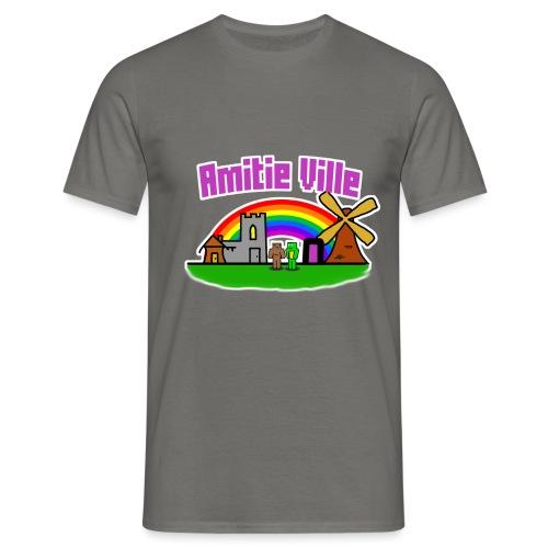 Amitie Ville Logo Shirt - Men's T-Shirt
