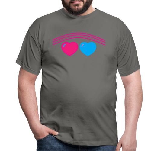 Das Design mit Herz - Männer T-Shirt