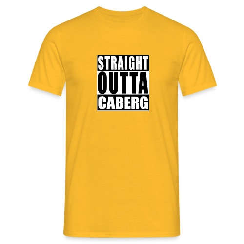 Straight outta Caberg - Mannen T-shirt
