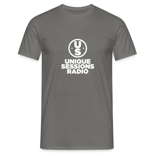 Unique Sessions Radio Monochrome White - Men's T-Shirt