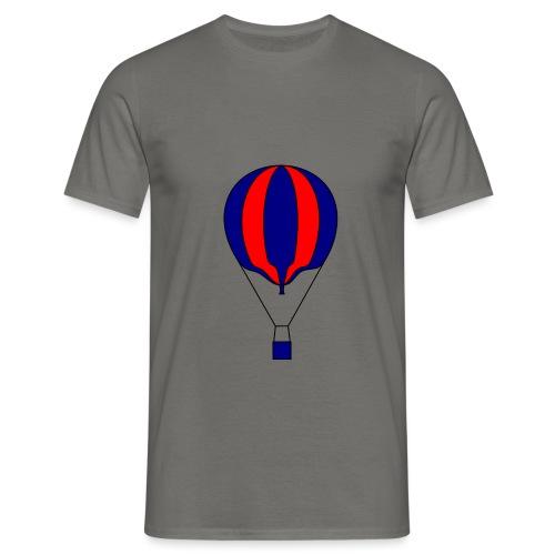 Gasballon blau rot gestreift unprall - Männer T-Shirt