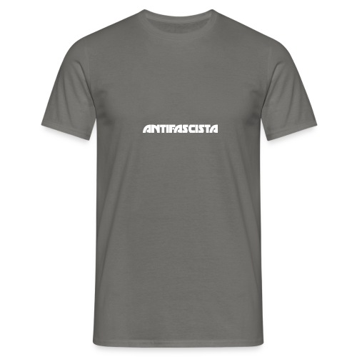 Antifascista vit - T-shirt herr