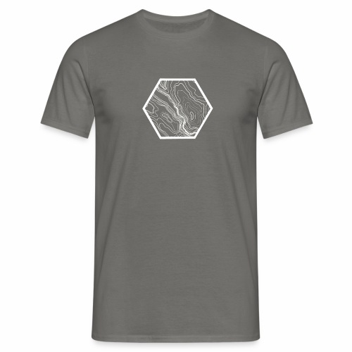 Terrain hexagon white - Männer T-Shirt
