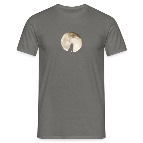 The wolf with the moon - T-shirt Homme