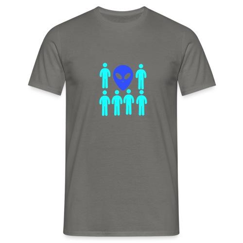 Extraterestre y Humano - Camiseta hombre