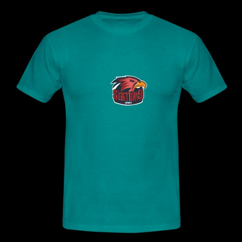 Sektion9 logo Rot - Männer T-Shirt