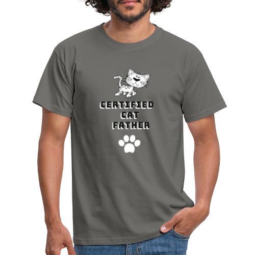 Certified Cat Father - Men's T-Shirt