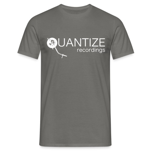 Quantize White Logo - Men's T-Shirt