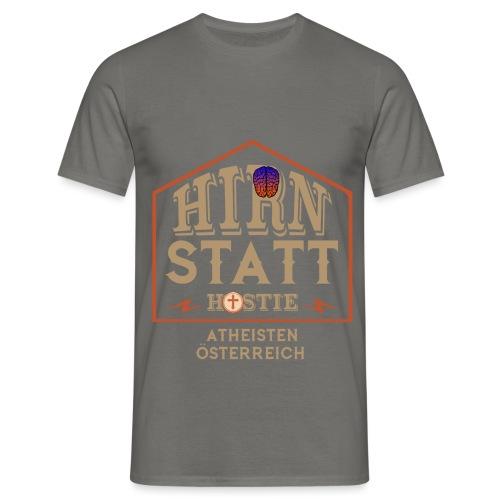 Hirn statt Hostie - Männer T-Shirt