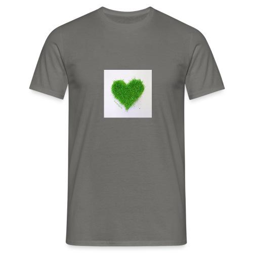 Herzrasen Button - Männer T-Shirt