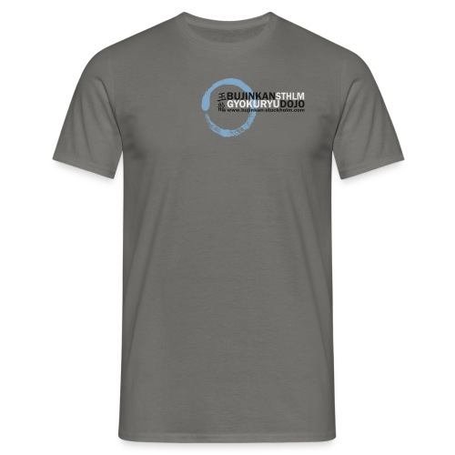 Logo colored bg enso blue 01 - T-shirt herr