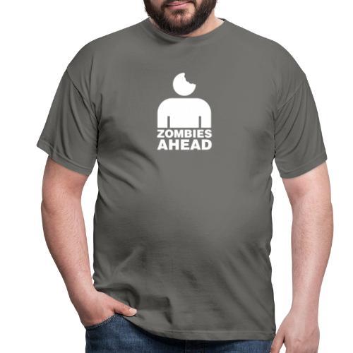Zombies Ahead - T-shirt herr
