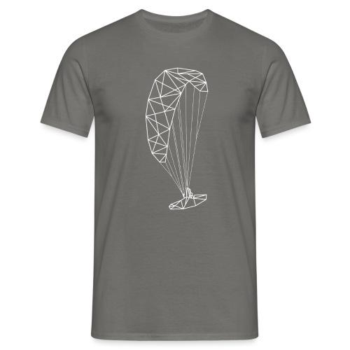 Paraglider Vektor Linien Gitter - Männer T-Shirt