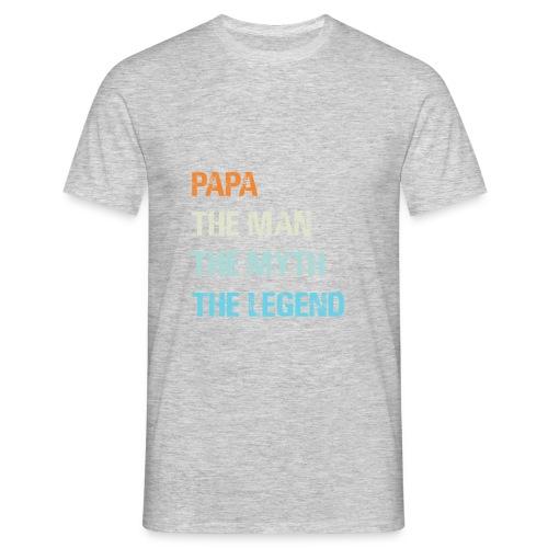 Papa de man de legende. Cadeau idee vaderdag. - Mannen T-shirt