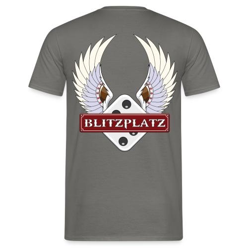 Blitzplatz nur Flügel groß - Männer T-Shirt