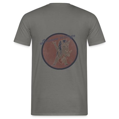 Licorne guitare metal Vintage fond rouge - T-shirt Homme