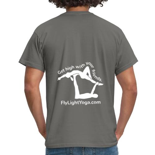 White: Get high with your friends - AcroYoga - Men's T-Shirt