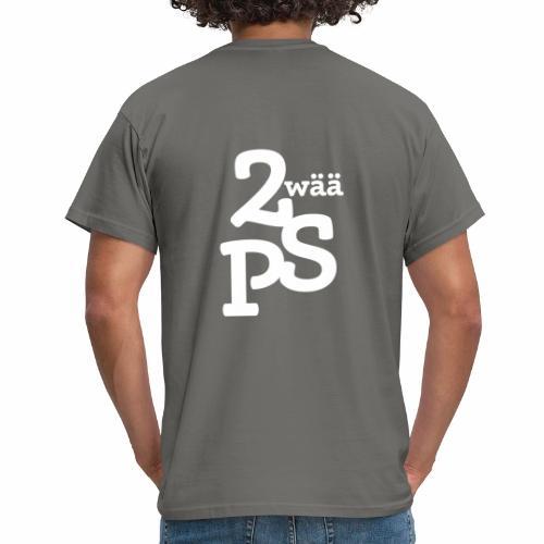 ZwaeaePS Logo weiß - Männer T-Shirt