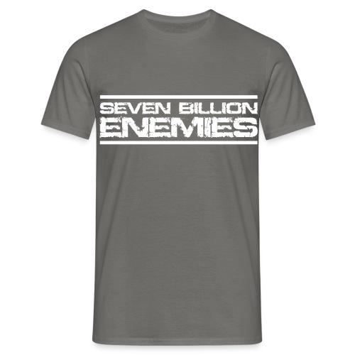 Seven Billion Enemies - BLANC - T-shirt Homme