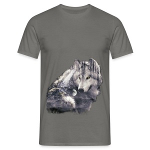 wolf and forest - Camiseta hombre