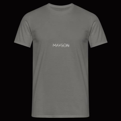Mayson Schriftzug weiß - Männer T-Shirt