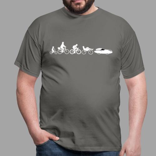 Bicycle evolution white Quattrovelo - Miesten t-paita