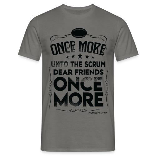Once More Black On Transparent - Men's T-Shirt