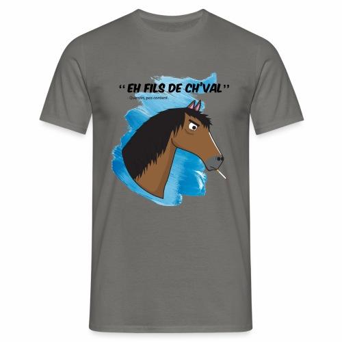 EH FILS DE CH'VAL Bleu - T-shirt Homme