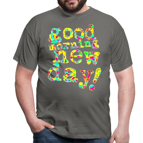 good morning new day yellow and red - Mannen T-shirt
