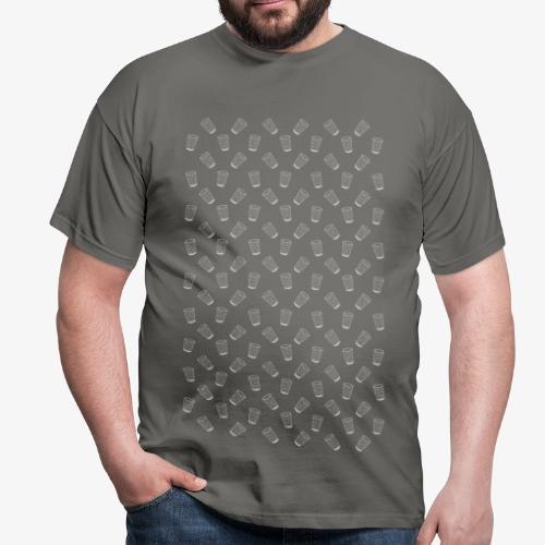 Dubbeglas - Muster - Weiss - Weinschorle - Pfalz - Männer T-Shirt