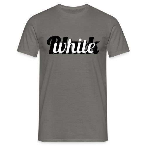 Zwart-wit typografie - Mannen T-shirt